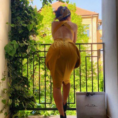 Wide strap dress