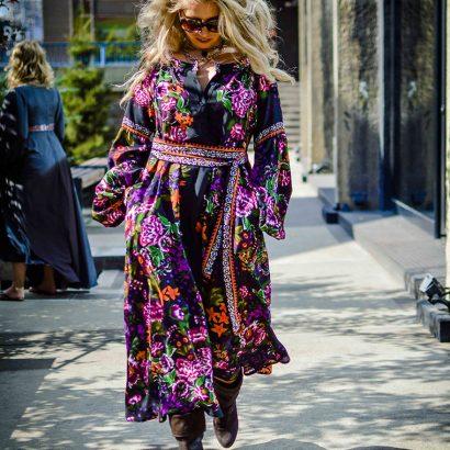 Floral gypsy dress