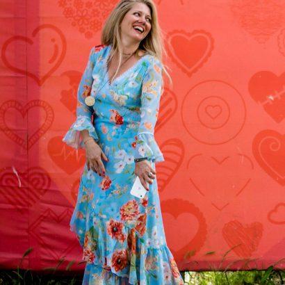 The aquarelle dress
